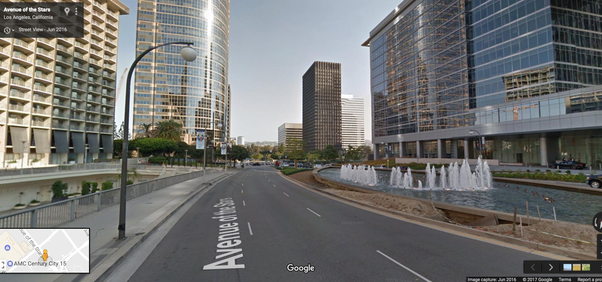 Vista de donde estará la estación Century City.