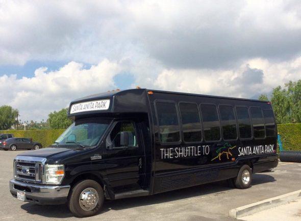 El autobus especial que va al Parque Santa Anita.