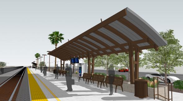 Ilustración de la nueva estación.