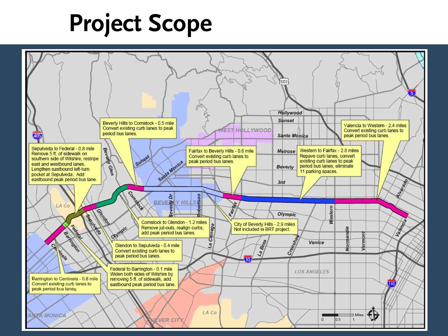 Wilshire bus lane project