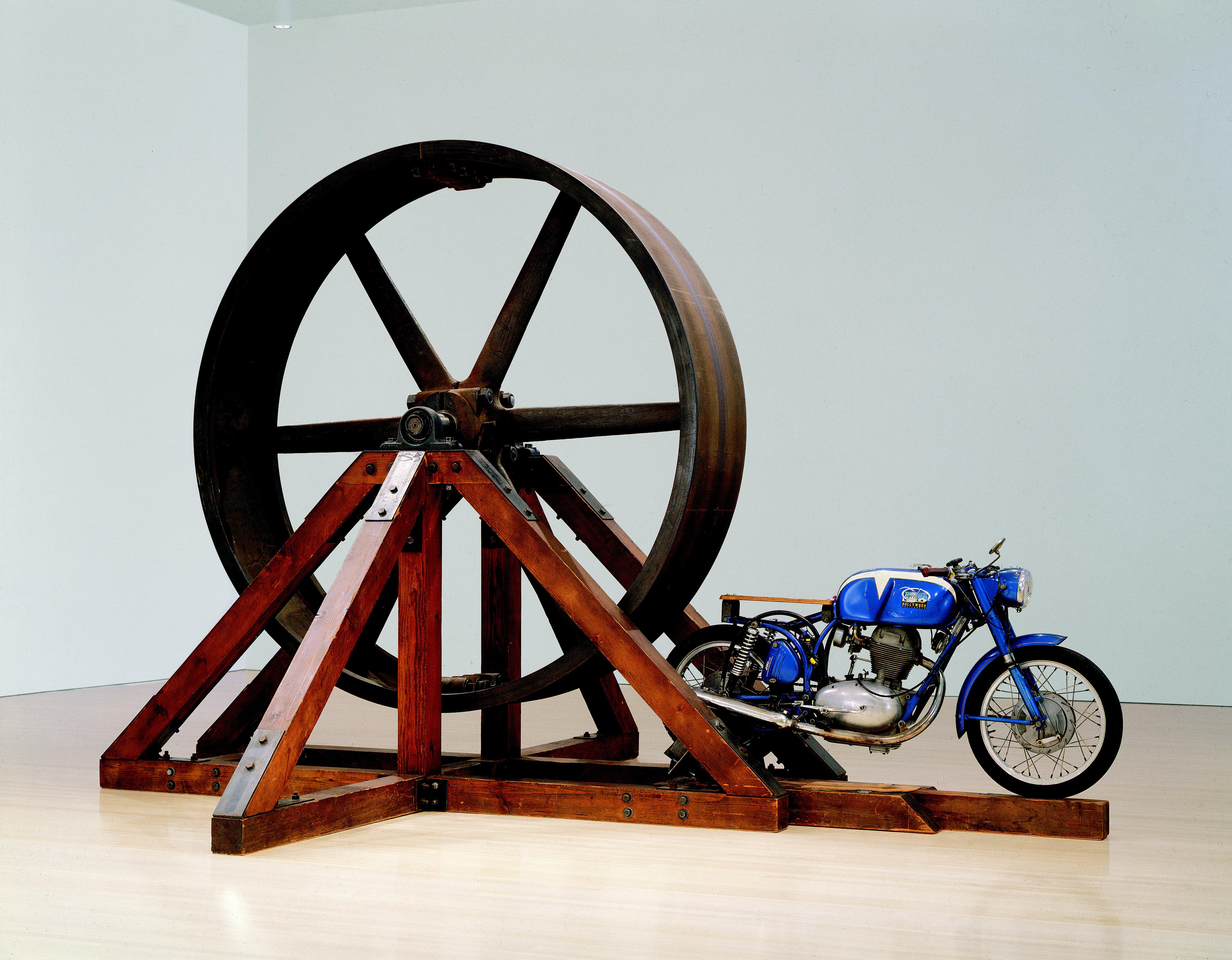 "Chris Burden's ""The Big Wheel"" at The Geffen Contemporary at MOCA."