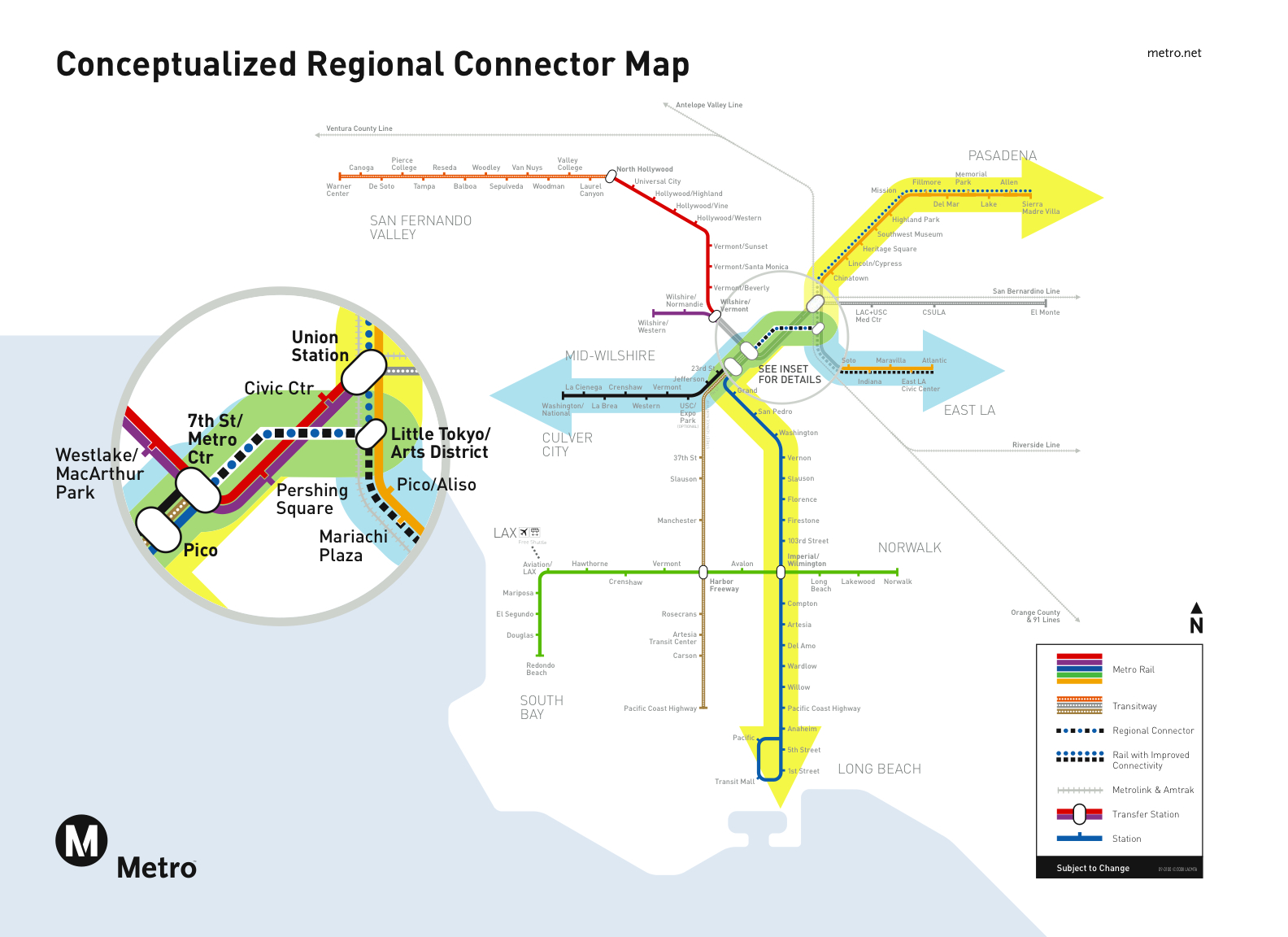 The regional connector will allow passengers on both Gold Lines, the Blue Line and Expo Line to travel through downtown without switching trains.