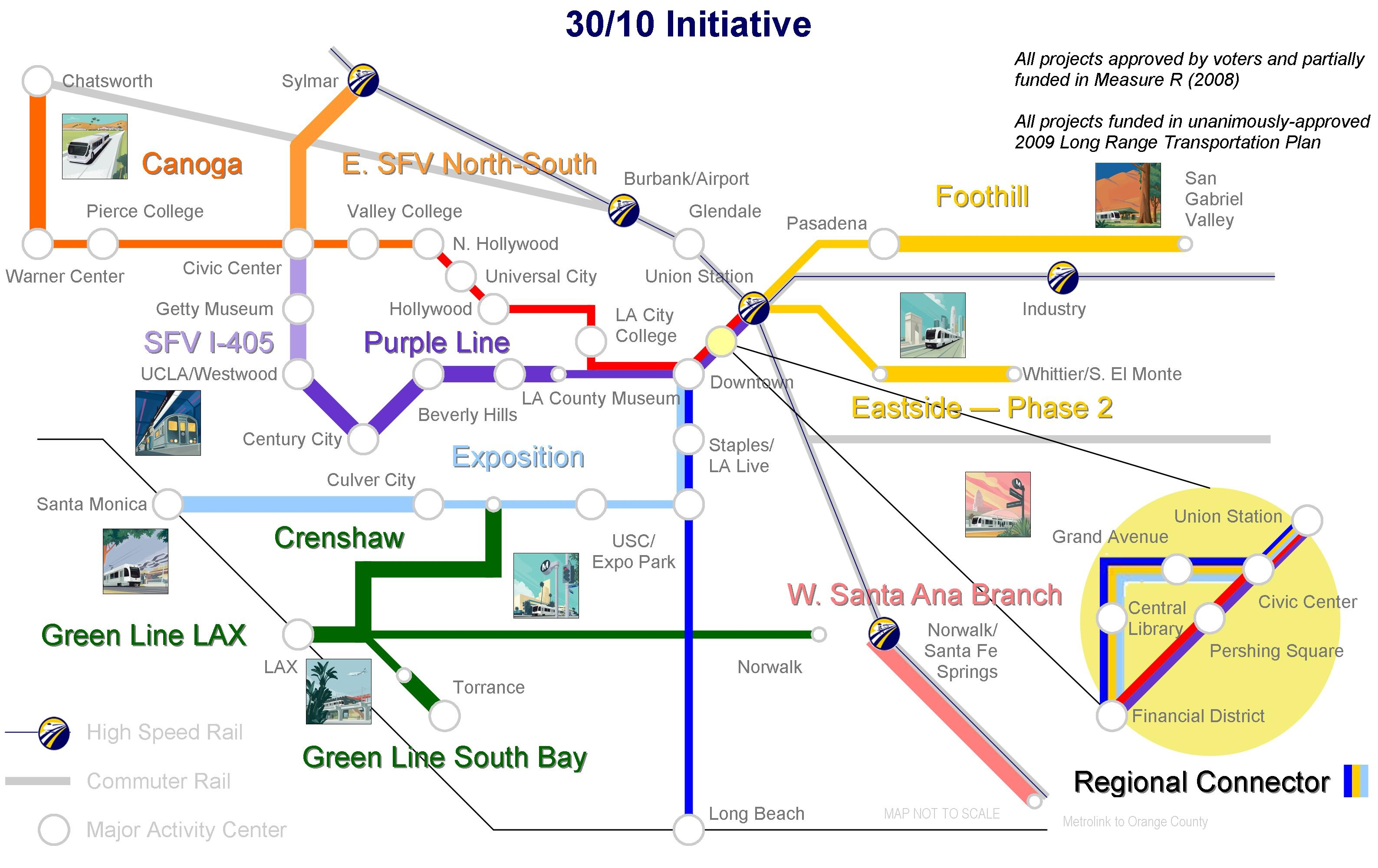 Initiative Approved By Board Of Directors Effort To Build - Los angeles metro expansion map