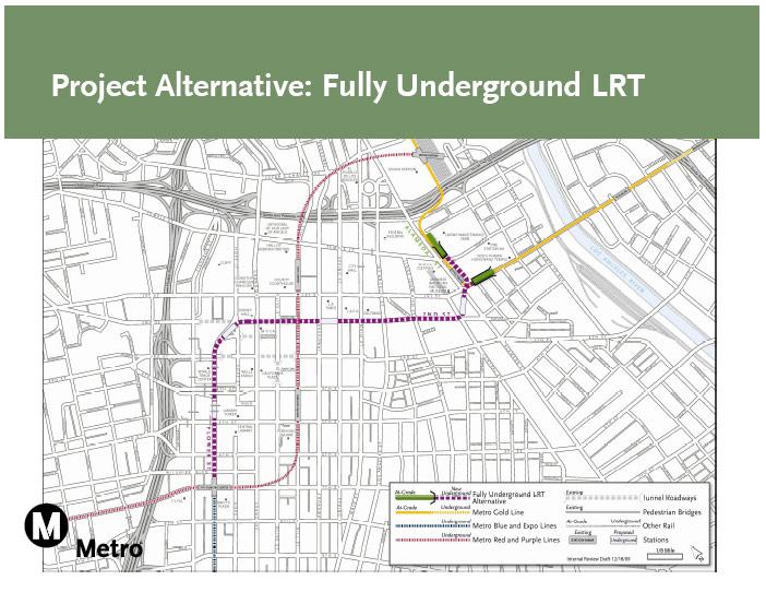Regional Connector Fully Underground Alternative