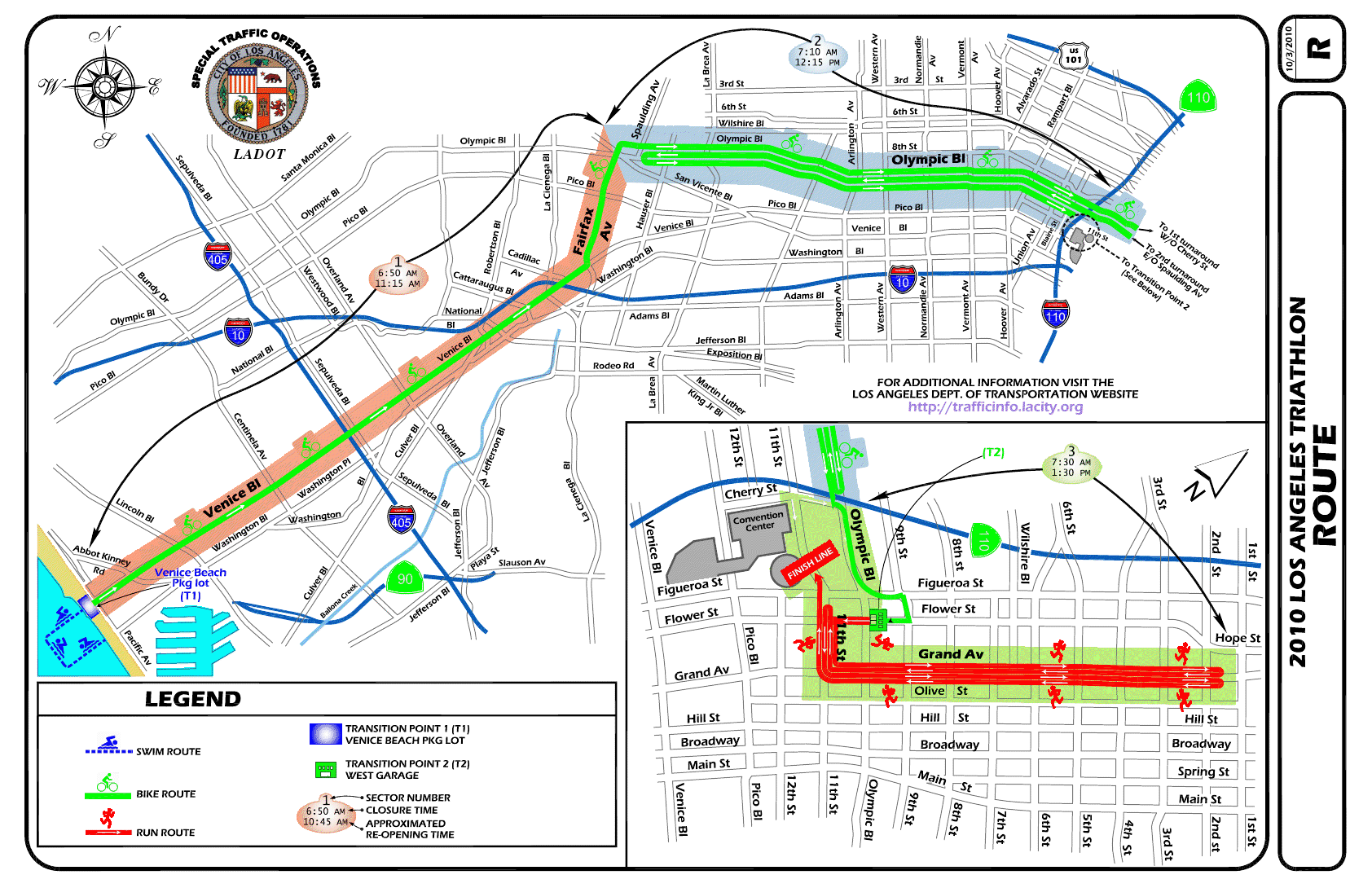 Traithlon street closures. Image via LADOT.