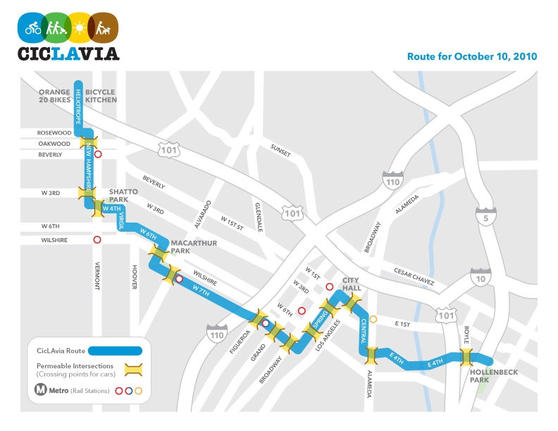 Ciclavia Route Crossings Map The Source