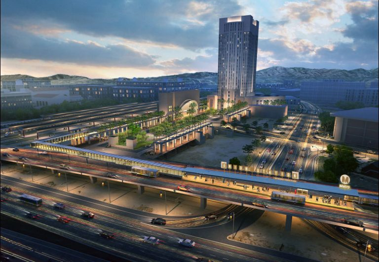 Rendering of planned Silver Line Station at Patsaouras Transit Plaza