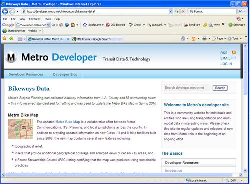 Metro Developer Site