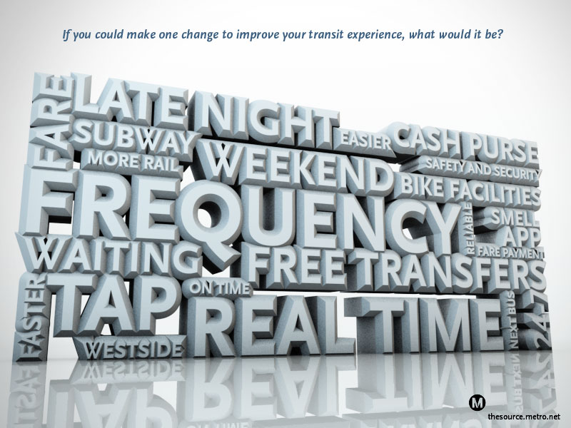 One change that would improve your transit experience - word cloud