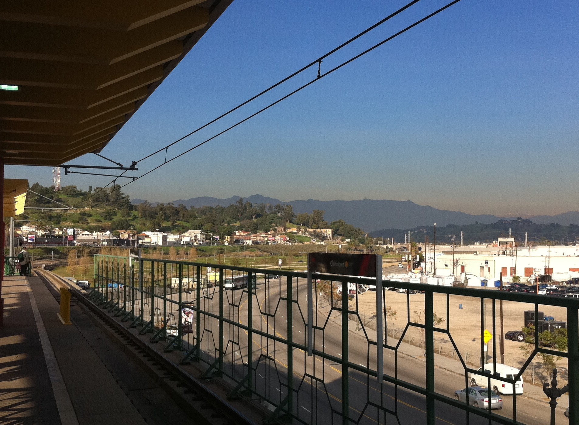View of LASHP from the Chinatown Gold Line Station