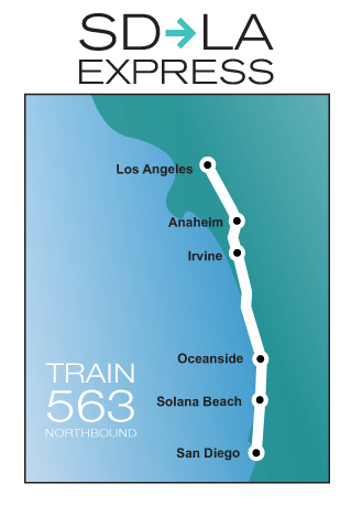 Amtrak Los Angeles Map.Amtrak To Offer Express Service Between San Diego And L A The Source