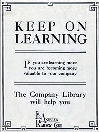 Los Angeles Railway employee outreach poster, circa 1937