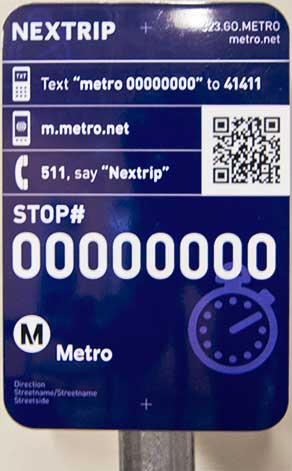 Nextrip sign prototype.