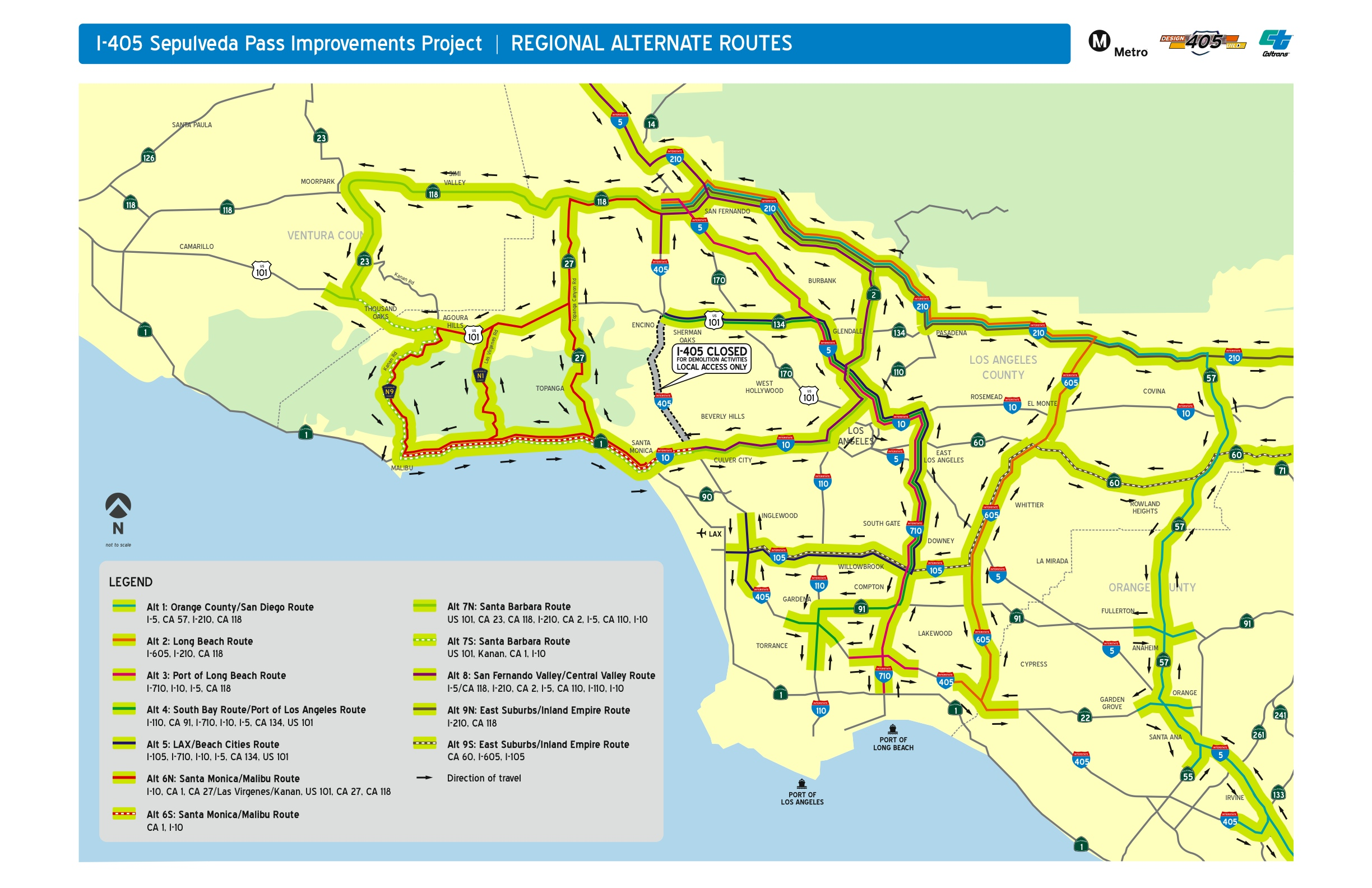 Closure Question How Bad Is Traffic Going To Be The Source - Los angeles freeway map traffic