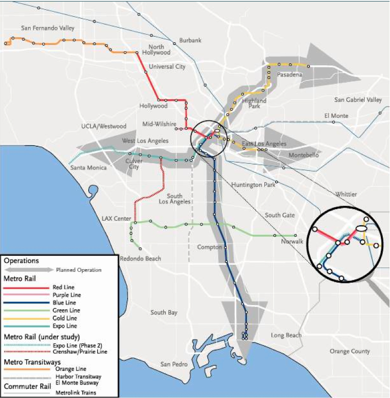The North-South line and East-West line will share five stations downtown.