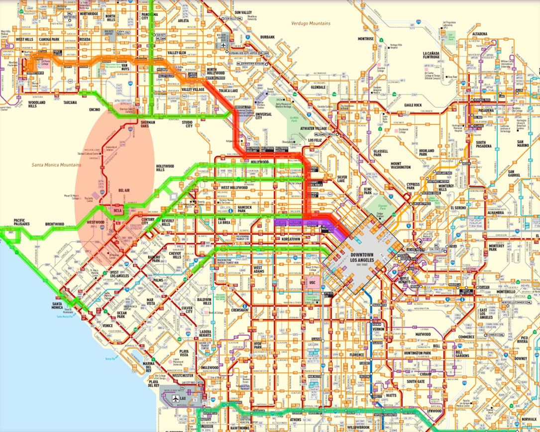 Affected area and transit service enhancements.