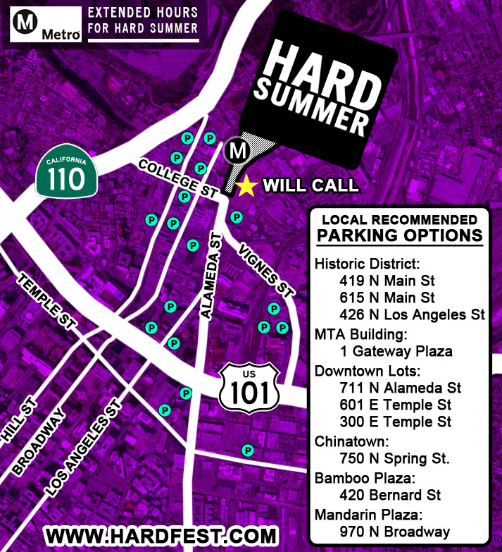 Why deal with parking when you can Go Metro? It's the easiest, safest and most affordable way to get to HARD Summer 2011.
