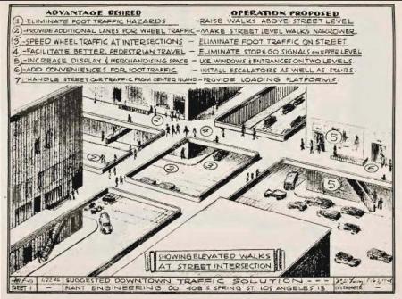 Elevated sidewalk proposal for Los Angeles