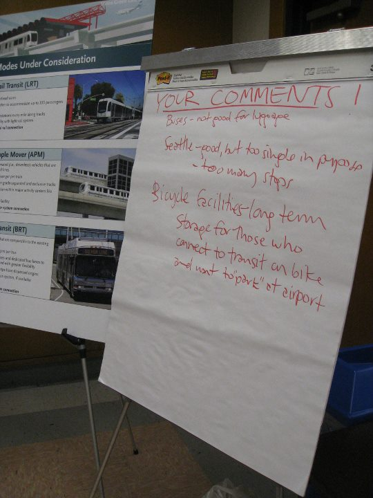 Green Line to LAX Community Workshops solicited comments from attendees.