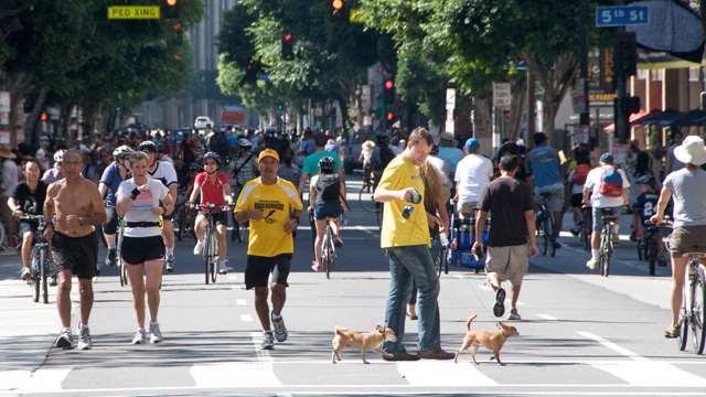 Look ma! No cars! CicLAvia is this Sunday.