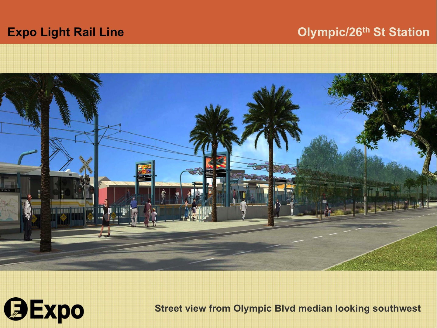 A rendering of the planned Olympic/26th Street station adjacent to the Bergamot Station arts district