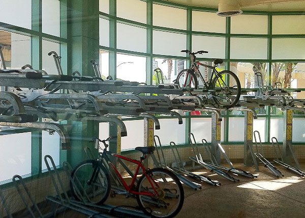Bike Stop Interior can accommodate 40 bicycles.