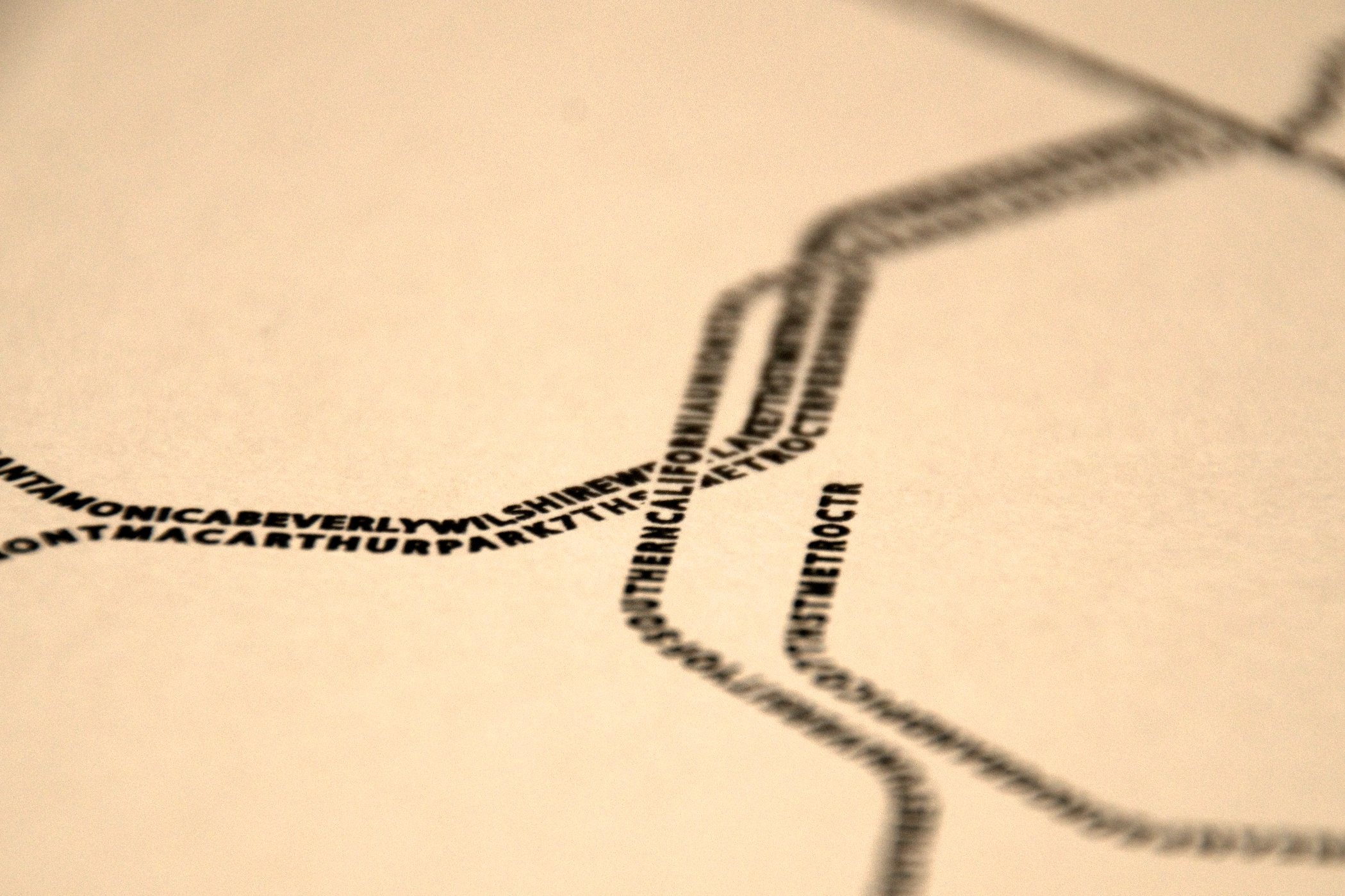 Designer Scott Glew uses the text of station names to outline transit routes for his posters.
