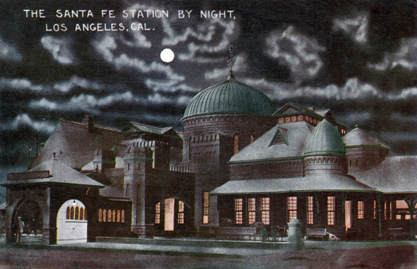 La Grande Station. Loyola Marymount University Library / Werner von Boltenstern Postcard Collection