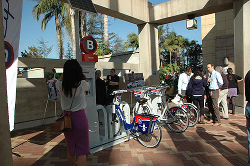 B-Cycle demonstration at Union Station