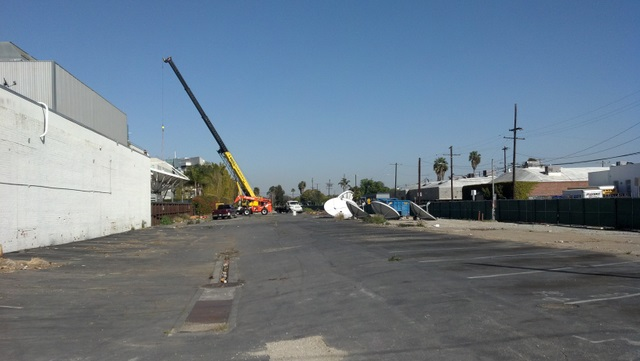 View of Expo right of way looking east from Centinela Avenue