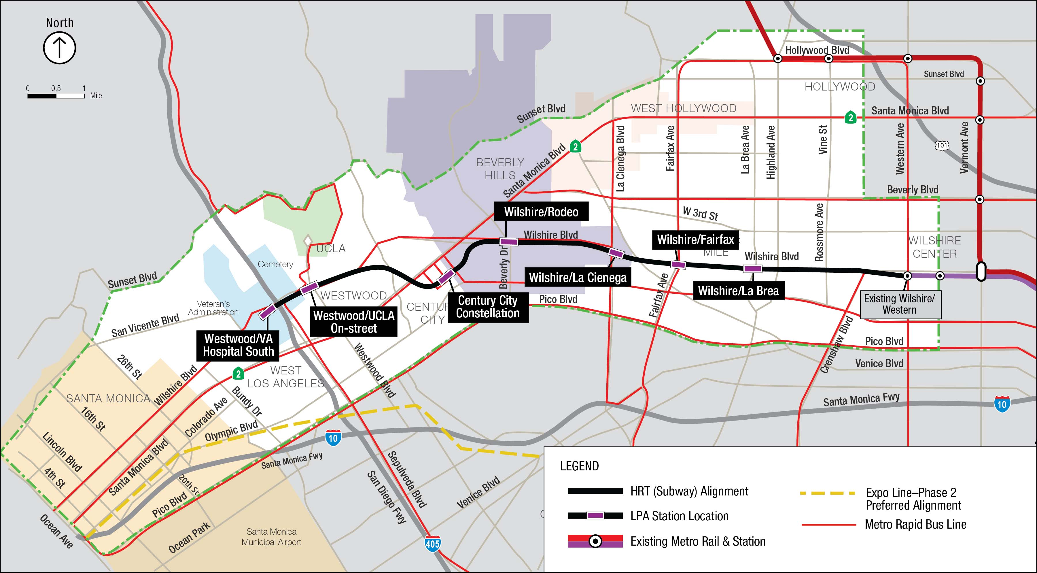 A map of the subway route recommended by Metro staff. Click above for a larger map.