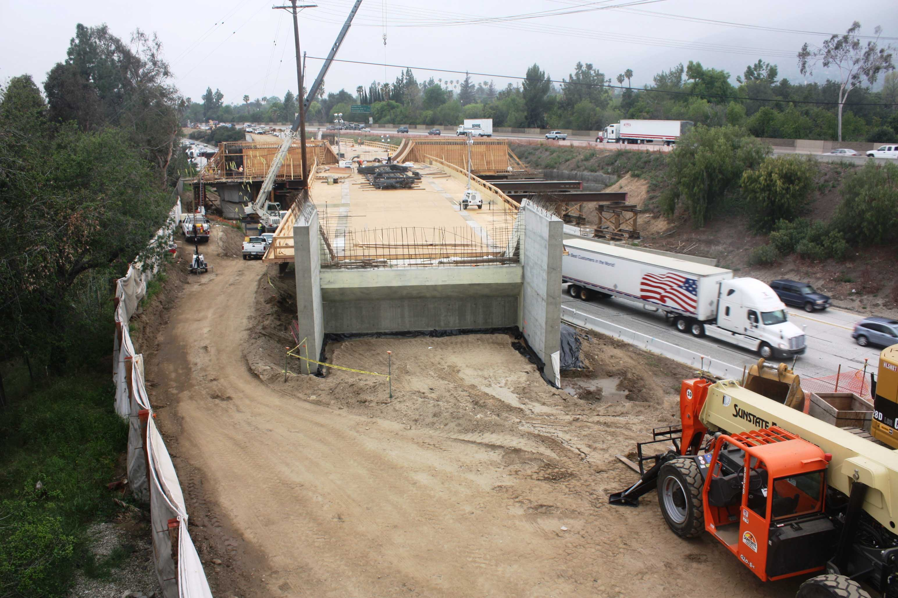 A photo of the bridge worksite taken Friday. Photos: Foothill Extension Construction Authority.