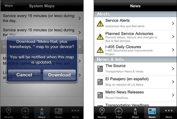 Go Metro V2 (iPhone) - Maps, Alerts, and News