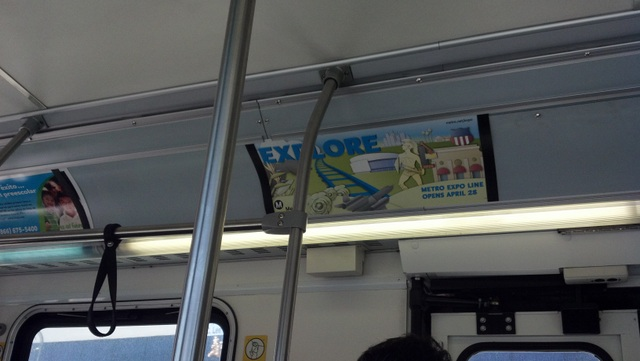 Ad for the Expo Line on Metro's 720 Bus (Photo by Joel Epstein/Metro)