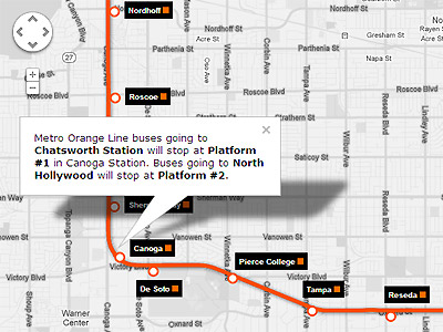 Orange Line Extension Service Map