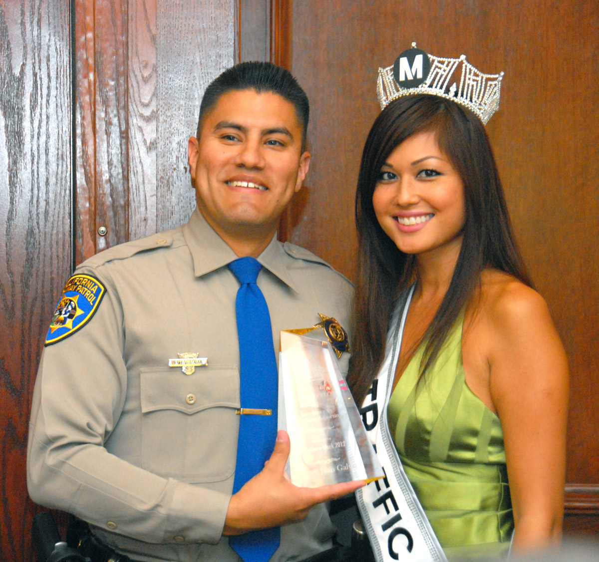 CHP reporter Officer Juan Galvin, Miss Traffic.