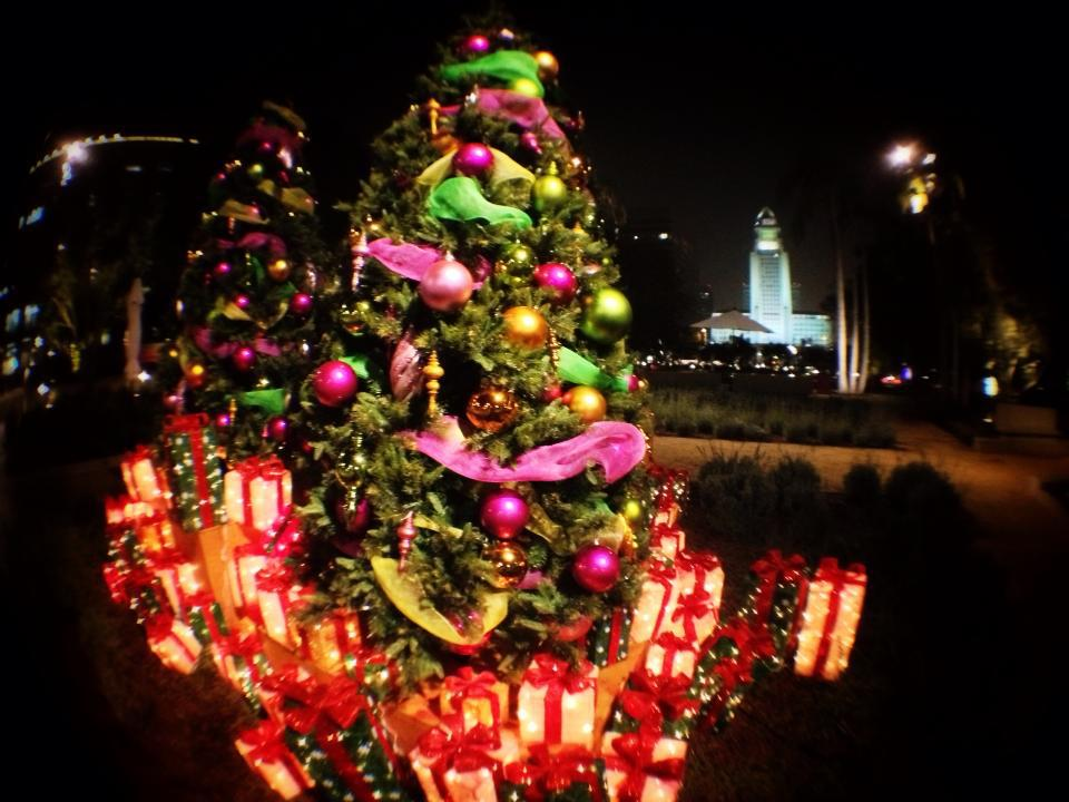 Celebrate the holidays at Grand Park, served by the Civic Center Station. Photo via Grand Park Official Facebook
