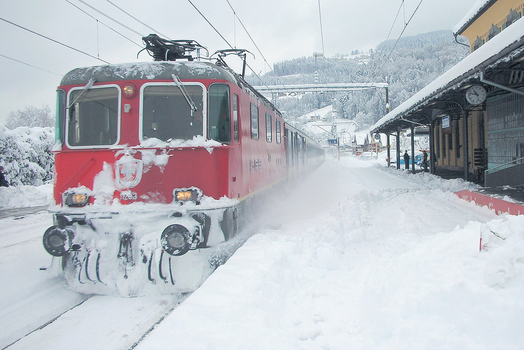 ART OF TRANSIT: A nice wintery scene for you on the first day of winter. Guess where this was taken; answer is after the jump. Photo by Kecko, via Flickr creative commons.