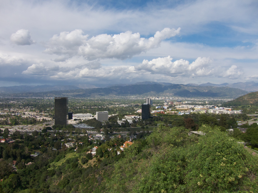 Universal City as seen from the Santa Monica Mountains. Some would argue Studio City is also seen in this photo, others may argue it's not. Photo by The City Project, via Flickr creative commons.