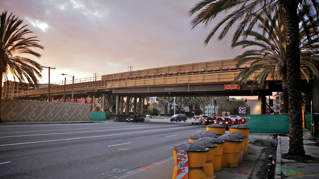 ART OF TRANSIT: The new Expo Line bridge over Cloverfield Boulevard in Santa Monica continues to take shape. Photo by Gary Kavanagh, via Flickr -- click above to check out his set of images.