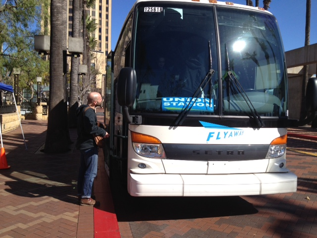 FlyAway bus at Patsaouras Plaza/Union Station