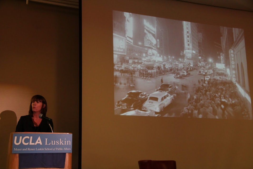 Janette Sadik-Khan at last night's event. Photo by Juan Matute/UCLA.
