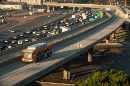 ExpressLanes near Union Station, downtown L.A. Photo by Josh Southwick/Metro