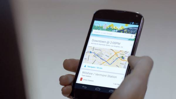 New Google product demonstrating how users can check Metro Rail train times