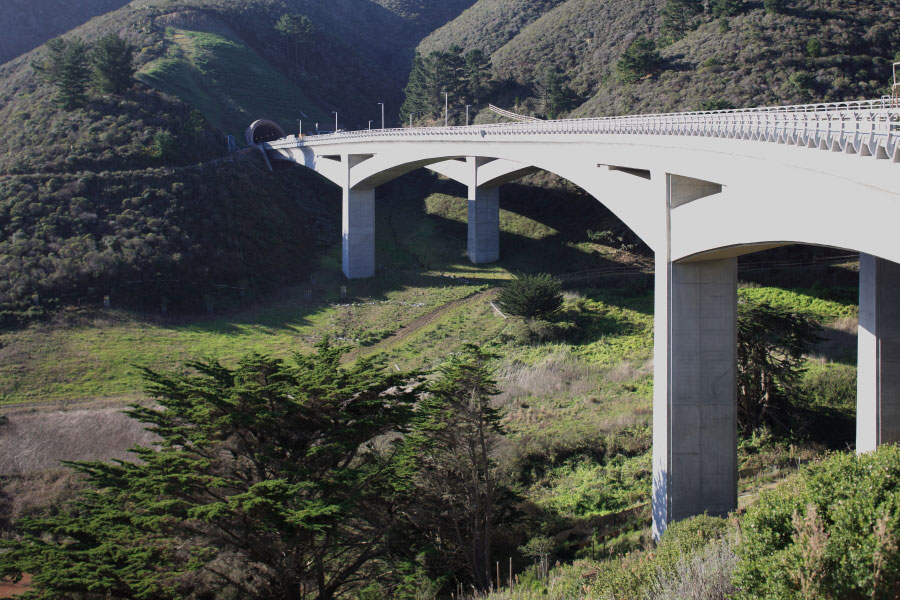 The new bridge leading to the new tunnel. Photo: Caltrans.