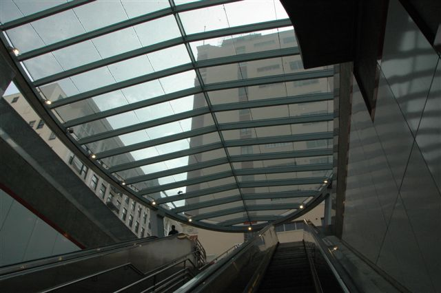 Pershing Square Station Canopy. Photo by Jose Ubaldo/Metro.