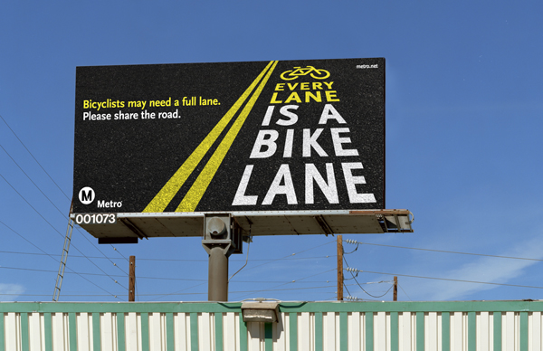 Bike Safety campaign billboards throughout Los Angeles County