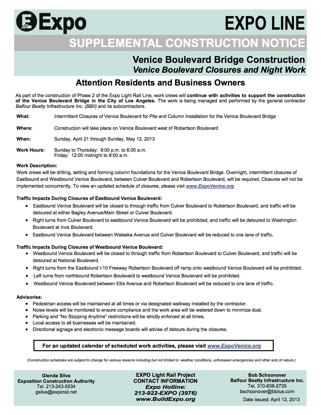 041213-Venice-Boulevard-Bridge-Construction-Venice-Boulevard-Median-Pile-and-Columns