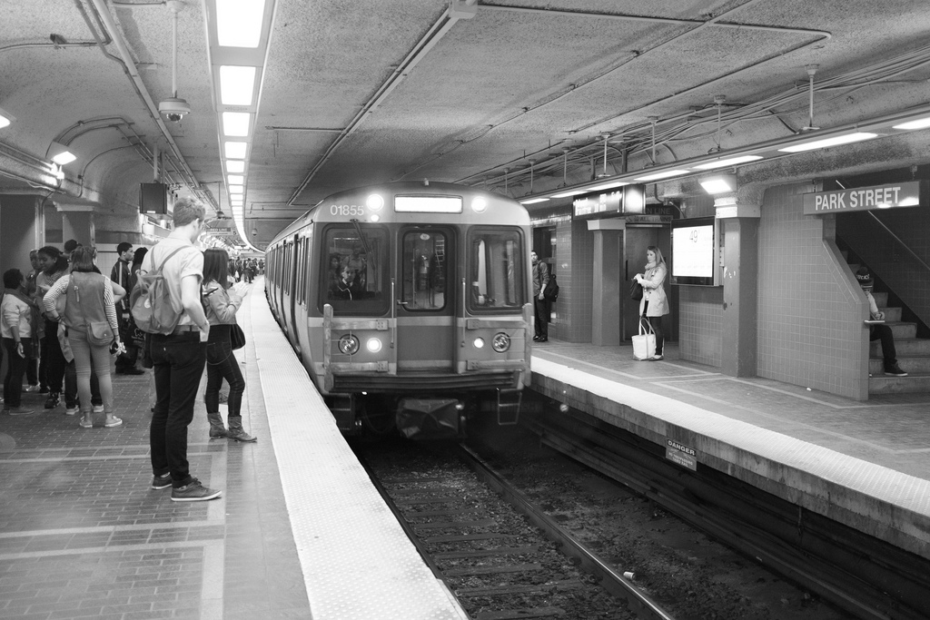 The Boston T's Park Street station. Photo by Dylan Pech, via Flickr creative commons.