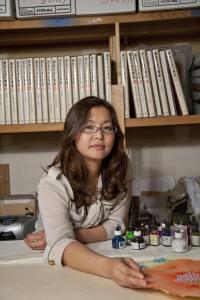 Wakana Kimura in her Inglewood studio.